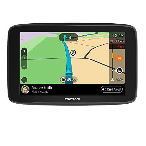 TomTom Navigationsgerät GO Basic (5 Zoll, Stauvermeidung dank TomTom Traffic, Karten-Updates Europa, Updates über WiFi, umkehrbare Halterung)