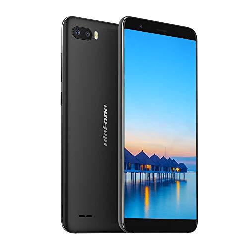 Ulefone S1 (2019) Smartphone ohne Vertrag Günstige 5,5 Zoll Dual SIM Handy Android 8.1 (Go), Face ID- Schwarz