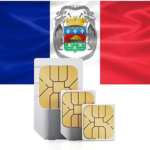 Prepaid-Daten-SIM-Karte, 2 GB, High-Speed, zur Verwendung in den USA oder der Karibik (Französisch Guadeloupe,Martinique, Saint Martin) Gültig für 30 Tage.