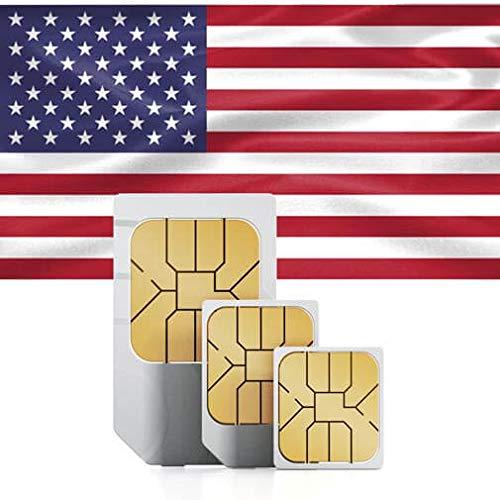 Prepaid Lycamobile SIM-Karte für USA mit 50 GB 4G/LTE Geschwindigkeit, UNBEGRENZTE Nationale Telefonie & SMS, UNBEGRENZTE Internationale Telefonie & SMS in über 75 Länder.