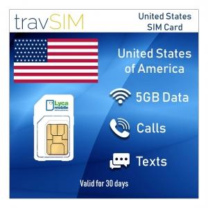Sim Karte für USA 30 Tage 4GB